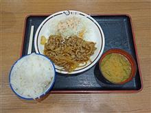 中国道上り赤松PA 焼肉定食720円