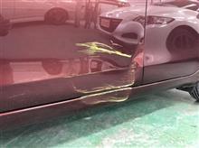 【トヨタ ヴィッツ 板金・塗装・修理】東京都西東京市よりご来店のお客様です。
