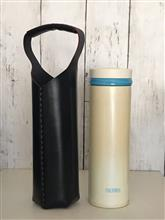 レザークラフト日記/[革組子]水筒カバー
