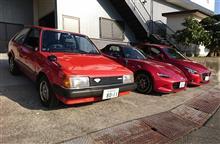 新旧の赤いマツダ車