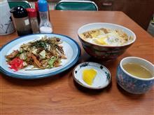 或る雨の週末、刈谷のレトロ食堂にてカツ丼と焼きそばを愉しむ
