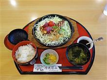 舞鶴若狭道上り西紀SA 鹿児島産のポークステーキ定食1380円