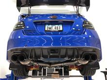 スバルWRX用ドライカーボン製リアテールカバーのフィッティングしました!
