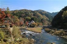 今年最後の紅葉は香嵐渓で...