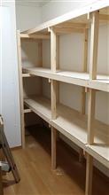 ■ 納戸の棚を作りました