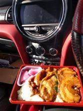 暖かい日の昼食!