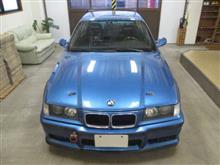BMW 3シリーズ(E36)クーペ 大型GTウィング付き、採寸&装着確認(完成)