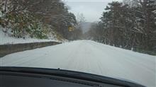 ミライース、初雪上走行