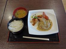 名神高速上り大津SA ハンバーグ&鶏唐揚げ定食900円