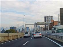 首都高4号線で新宿へ向かう~