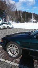 E38 コンチネンタルDWS06雪道走行。雪道は良いが、氷は全然ダメ。