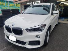 BMW:現行X1(F48)にスタッドレスお取り付け! FIT都筑店です(*'▽')