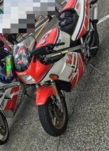 メーカー一致団結❗️YAMAHA RZV500R HONDA CBR250R SUZUKI RGV-Γ250❗️ in  Racer Replica Big Festival2018秋