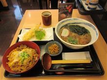 (めん坊) 天ぷらそば 牛とじ丼