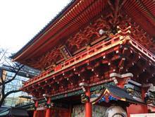 神田神社、初詣と正月バッジゲット(´^(エ)^`)♪