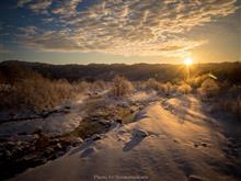 氷点下18度の朝景
