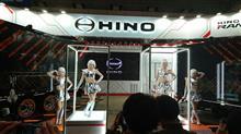 東京オートサロン2019HINOブースにて・・・