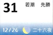 月暦 1月31日(木)