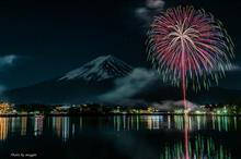 富士山と花火