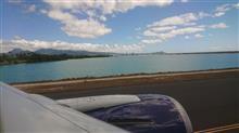 オワフ島離陸