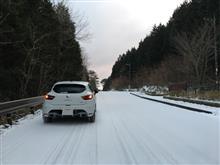 気持ちいい雪道