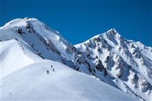 厳冬期唐松岳へ