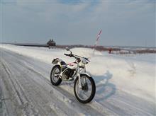 雪の原野+バイク=楽しい ♪  (#^.^#)