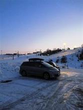 18-19 スキーNo.52 一気に減ったホームゲレンデの積雪量