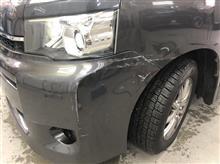 【トヨタ ヴォクシー 左前部事故 板金・塗装・修理】 東京都立川市内よりご来店のお客様です。
