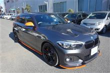 【BMW 118d リヤバンパ修理・塗装】 東京都八王子市よりご来店のリピーター様です。