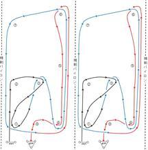 バトルジムカーナ2019 Rd.1のコース図