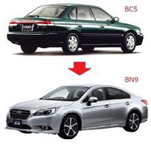 昔の車と変わったところを色々比較してみた 5(レガシィ編)