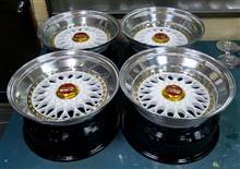 BBS-RS16~17インチ/バブルリップ100-4Hピッチ加工パールホワイト