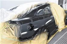 R35 GT-R リアフェンダー交換 鈑金塗装 Part2 塗装編 (^^)/