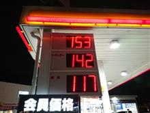 ガソリン価格3/31