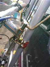 自転車固定方法 仮
