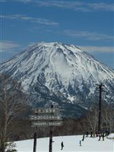 18-19 スキーNo.61 ニセコアンヌプリの春。1ヶ月振りのスキー。