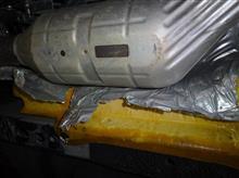 床下断熱シートの破損