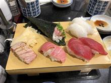 冬眠明けは立ち食い寿司で