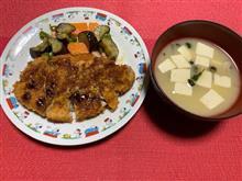 夕ご飯を作ってみました・・(。◠‿◠。)♡