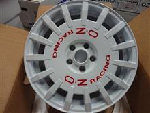 今日のホイール OZ RallyRacing(オーゼット ラリーレーシング) -ミニ F57 ミニコンバーチブル JCW用-