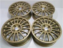 OZ1Ps鋳造17インチ/パウダーゴールド&パウダーアクリルクリアー&ロゴシール作成
