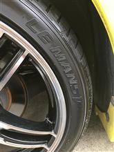 親猿(スイスポ)タイヤ交換