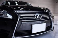 人気の後期型・レクサスLS460のガラスコーティング【リボルト姫路】