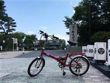 松本城にチャリで来た!?
