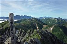北アルプス鷲羽岳・水晶岳