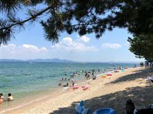 琵琶湖湖水浴とBBQ。