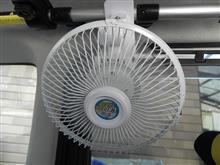 モモさん専用扇風機取り付けの巻