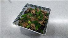 ナス、九条ネギと豚肉の味噌炒め  #料理 #豚肉 #あぐー豚 #ナス #九条ネギ