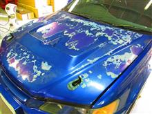 ホンダアコード クリアーハゲ ボンネット ルーフ 安塗り塗装 磨き 愛知県豊田市 倉地塗装 KRC